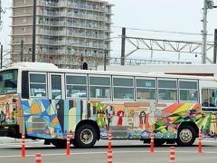 延岡駅から高千穂峡までは路線バスに乗りました。 このバスがかわいい!