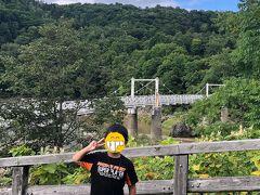 その後旭川方面に向かい神居古潭を散策。 この日は朝から天気が悪かったんですがこのあたりでようやく陽が差してきました。 神居大橋、錆が目立つなあ。