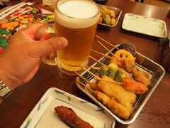 飲み放題をチョイス  大阪・・特になんばから新世界界隈の飲食店は、安く飲食できる。