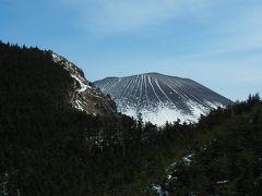 さらに登るとようやく浅間山が姿を見せてくれました。