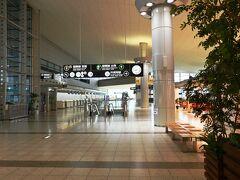 小さな地方空港なので普段から利用客は余り多くはないのですが、これは酷い。