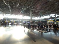 釜山港国際旅客ターミナルから徒歩移動で釜山駅へ。