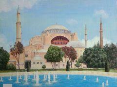 あまりにも有名なトルコはイスタンブールのモスク、アヤソフィアです。  今は博物館として一般公開されています。