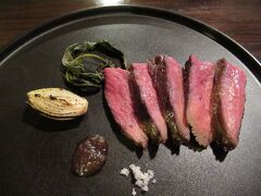 17:10 古民家レストラン「典座」で能登牛ステーキの夕食です