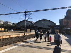 プラハに到着しました。良い天気です。