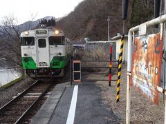 会津若松行きの列車がやってきた。 これに乗る。