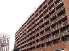 ホテルの外観。 ホテルというよりはマンションに近い感覚。