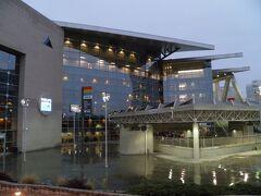 アトランタのダウンタウンには2つの大きなスタジアムがある。どちらもアトランタをホームとするプロ・スポーツ・チームの本拠地である。 こちらはNBA(バスケットボール)とNHL(アイスホッケー)で使用されるフィリップス・アリーナ。