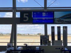 12:20発 FDA703便 出雲空港行きは5番ゲートから搭乗です.小さい機材なので沖留めかな?と思っていたのですがブリッジゲートからの搭乗です.