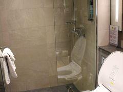 シャワーを予約したらすぐに使えるとのことでまずはシャワールームへ。 バスタオルとタオルがかかっています。 水圧も問題なし。