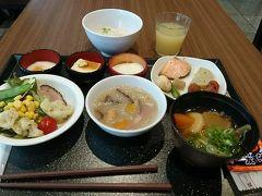 熊本の宿泊はドーミーイン熊本。 朝食付きでしたので、朝食をいただきました。