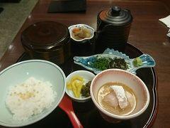 翌朝の朝食は「鯛めし石蔵」。 博多鯛茶朝食(980円)を。 美味しくいただきました☆