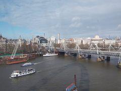 ロンドンアイにまた乗りました。そして、急に天気が変わりました。