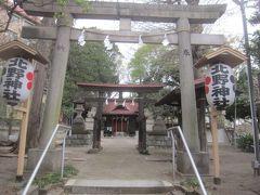 公園の奥にはひっそりと北野神社が鎮座していました