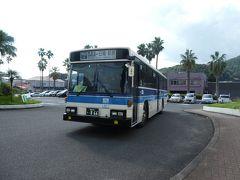 ANAホリデイインリゾート宮崎滞在を十分楽しみました。 フロントに荷物を預け、身軽になって日南観光に出発です。 ホテルの玄関脇のバス停から、10:31の飫肥行きのバスに乗車。 最近、宮崎空港経由便と日南・飫肥行きがホテル前に入ってくるようになったようです。なお、それ以外の便はホテル前の国道の従来のバス停です。