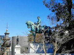 九段坂公園の大山巌元帥の銅像。西郷隆盛のいとこで戊辰戦争で砲兵として活躍、日露戦争では満州の総司令官。