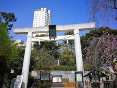 駅の出口を出たらすぐに乃木神社はありました。乃木神社一の鳥居です。