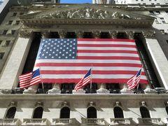 Broad St.駅から出てすぐの場所にあるニューヨーク証券取引所。