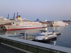 釜山港国際旅客ターミナルに戻ると博多港からやってきたJR九州のビートル3世とニューかめりあが揃っていた。