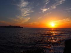 鮫ケ崎展望台から見る夕日
