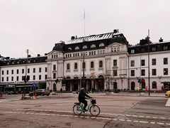 鉄道 ストックホルム中央駅駅 駅舎  ホテルの真向かいが鉄道の中央駅という立地で大変便利だった。この駅舎の前を通って、徒歩でストックホルム市庁舎へと向かう。