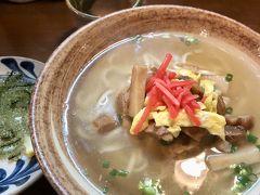 13:00頃ゆうなんぎいでお昼。 海ぶどうと沖縄そば。 普通においしかったです。