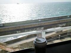 千葉の玄関口「海ほたる」のスタバでコーヒーブレイク。
