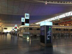 【羽田国際線ターミナル】 コロナの影響は既にでており、羽田までのリムジンバスも2組のみでした。