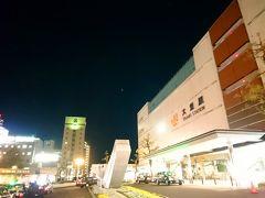 夜の大垣駅にやって来ました