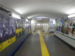 乗換駅の敦賀駅では地下道を経由して外へも出て見ました。