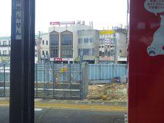 芦原温泉駅前だったと思うが絶賛工事中でした。