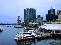 角の白い建物が、シーライフ・シドニー水族館