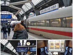 オッフェンブルクからカールスルーエまで約30分。 12:06発のシュトゥットガルト行きICに乗り換えます。 カールスルーエが始発で、すでに電車は停まっていました。 このICも空いており、コンパートメントを独り占め。