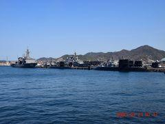 歴史の見える丘から、国内で唯一、潜水艦を間近で見ることができる『アレイからすこじま公園』https://www.city.kure.lg.jp/soshiki/67/m000008.html に・・・