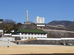 甲府城舞鶴城公園 帰りは甲府駅からかいじで帰りました。