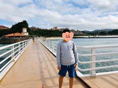 海中展望塔へ続く桟橋。