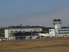 南紀白浜空港に到着。 コンパクトな空港でした。