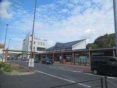 JR紀伊田辺駅、駅前ロータリーに着きました。