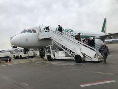 フランクフルト航空に着きました。沖止め。