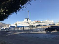 港にはテレニア社のフェリーが泊まっていました。