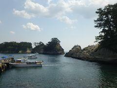 堂ヶ島  おぉ~、すごい景色! けど、何はさておきクルーズへ