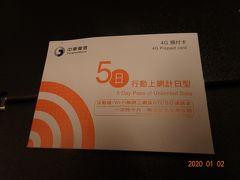 14時にタクシーに迎えにきてもらい羽田空港へ。 スーツケースを預けた後、SIMカードを購入  1枚1400円で5日間使い放題だったかな?