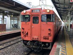 みさぱぱらが乗ってきた普通列車は定刻通り(10:38着)に松江駅に到着です.出雲市から約40分弱の乗車です.
