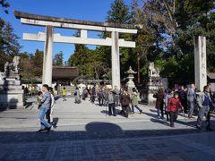 ●多賀大社  駅から歩いて約10分足らず。 多賀大社到着です。