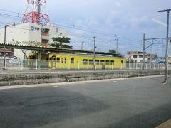 9:22 大原に停車。 黄色のディーゼルカーは、いすみ鉄道です。 これは、次回の旅行記で乗る予定です。