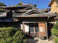 旅館白磯に到着。趣のある日本家屋。