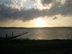 ちょうどクッチャロ湖で夕日の時間になりました。