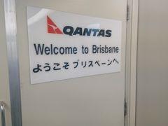 ブリスベンに到着。なぜか日本語のメッセージがありました。