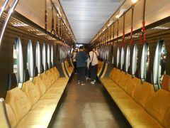 叡山電鉄(叡電)本線八瀬比叡山口駅に停車中のひえい号の社内です。観光列車なので素敵です。