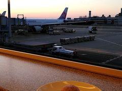 暮れなずむ関空と飛行機と甘味